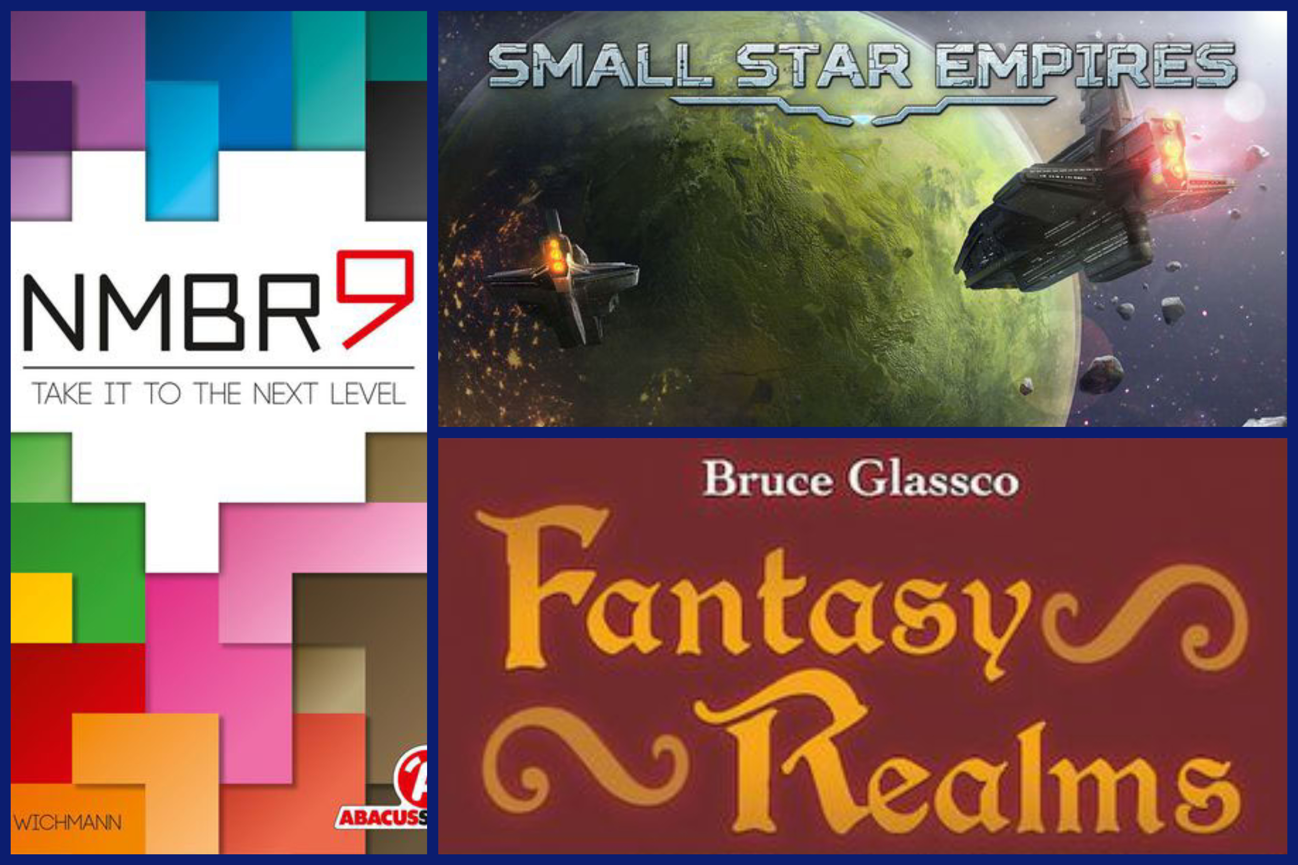 Triple Review: NMBR 9, Small Star Empires, and Fantasy Realms